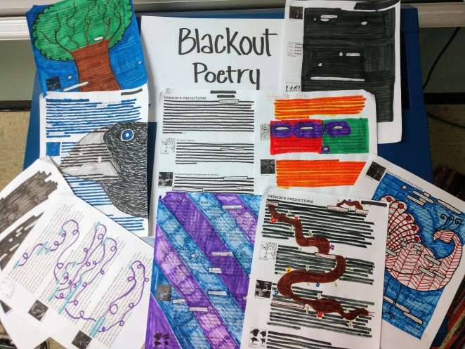 Science Blackout Poetry Examples