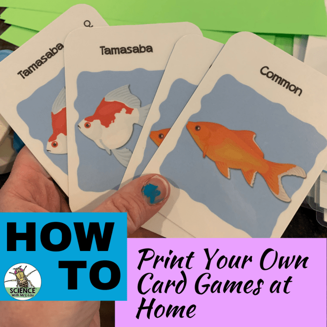 How to print your own card games at home