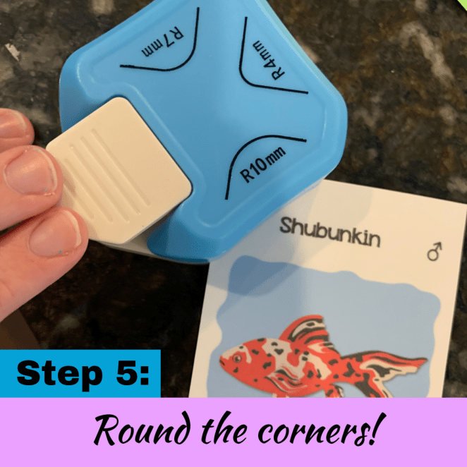 How to round the corners on homemade card game decks
