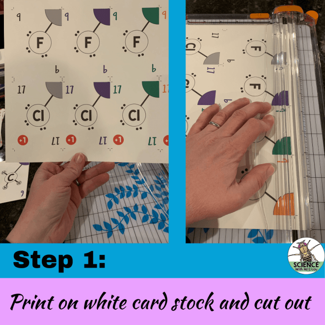 Printing educational card game cards