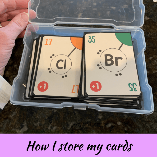 Storing card games in photo boxes