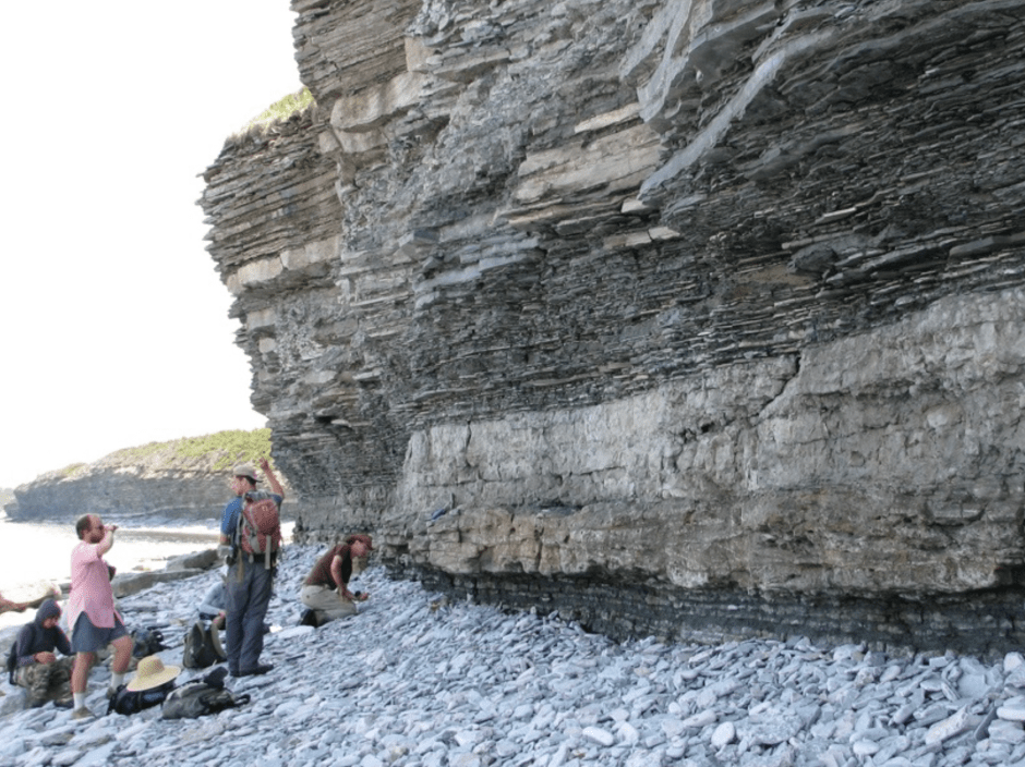 Rocks in Quebec which record the Late Ordovician Mass Extinction