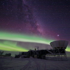 south pole aurora