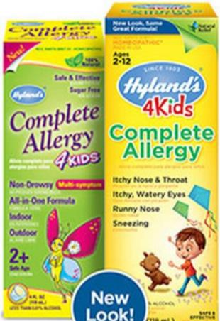 "Hyland's ""4 Kids Complete Allergy"" homeopathic preparation (not ..."