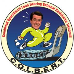 NASAs official Combined Operational Resistance Load Bearing External Treadmill, or COLBERT, patch