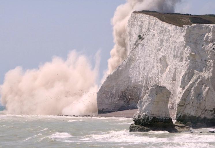 Krijtachtige rotsen in het zuiden van Engeland
