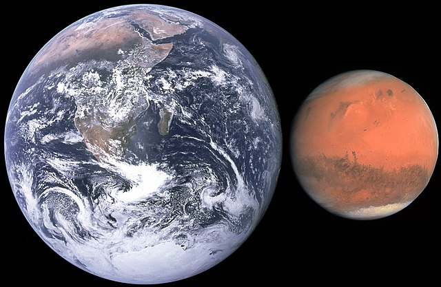 mars versus earth size