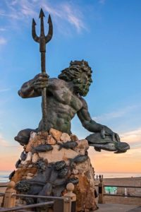 Neptune the roman god of freshwater and sea