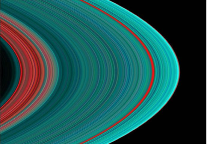 ultraviolet picture of saturn's rings