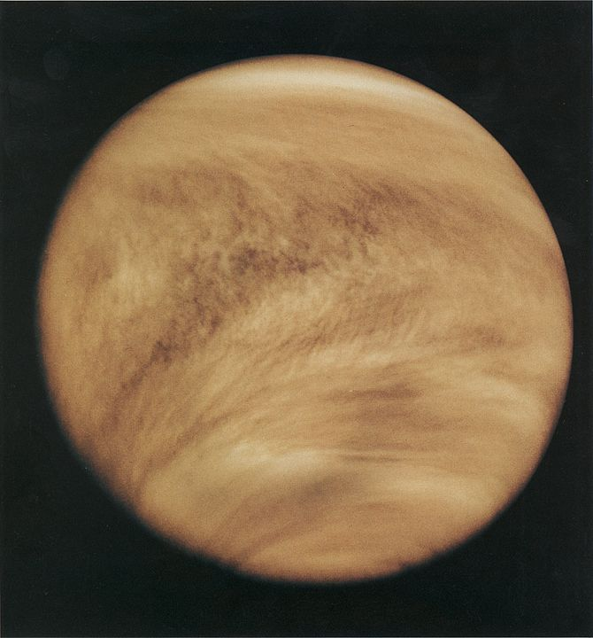 Ultraviolet picture of Venus clouds