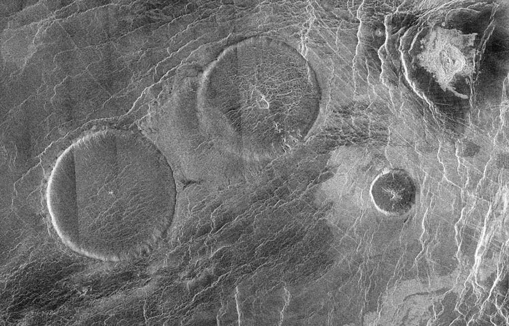 pancake volcanoes on venus