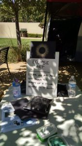 Eclipse art solar corona table.
