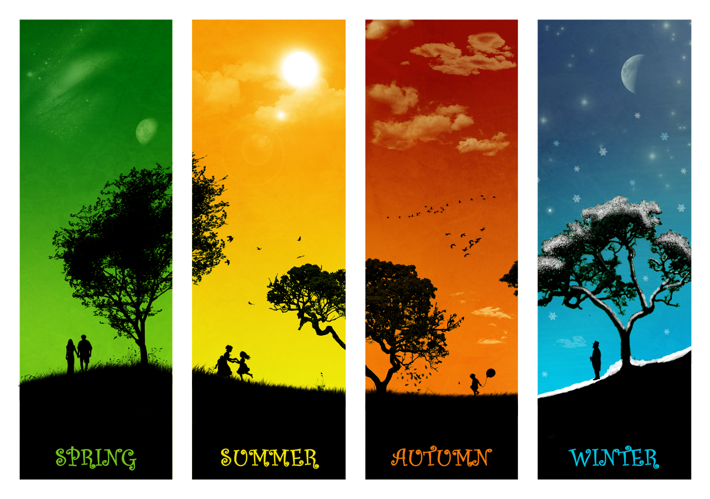 The Four Seasons Summer Winter Spring Autumn