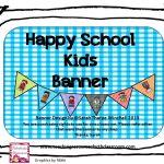 Back to School Banner for Your Classroom Happy School Kids