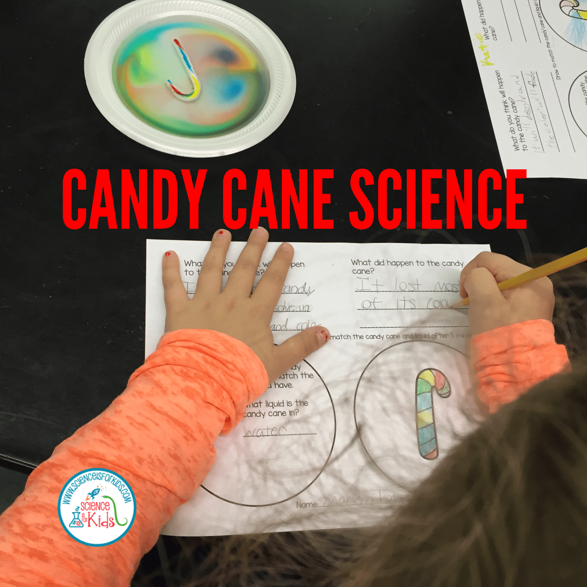 Dissolving Candy Canes Experiment Science Is For Kids
