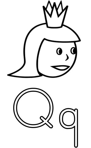 the letter q  coloring page for kids  free printable picture