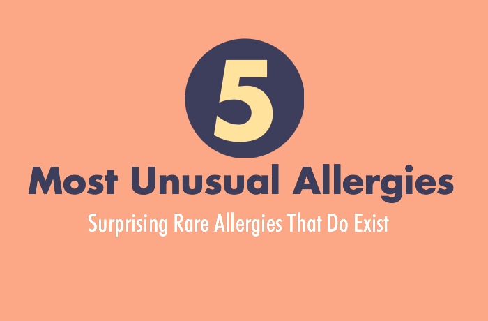 5 of the most unusual allergies [infographic] Surprising rare allergies that do exist!