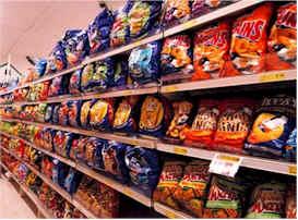 junk food aisle