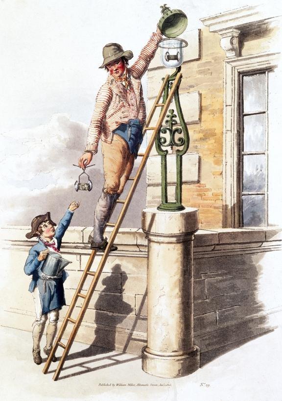 19th century lamplighter