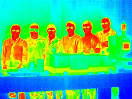 infrared image of researchers