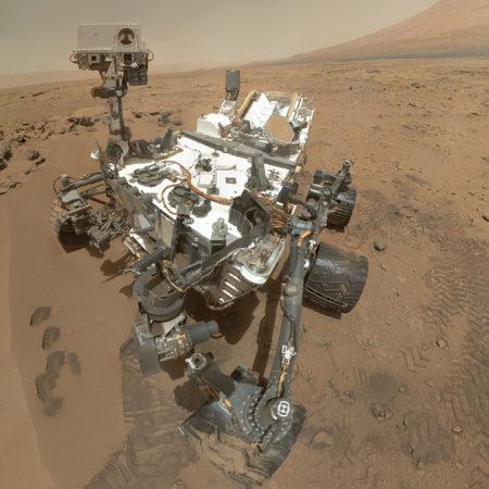 Selfie of Curiosity rover in 2012