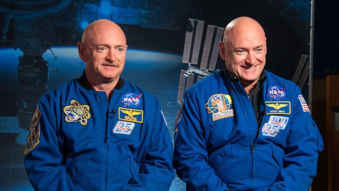 a photo of Mark and Scott Kelly