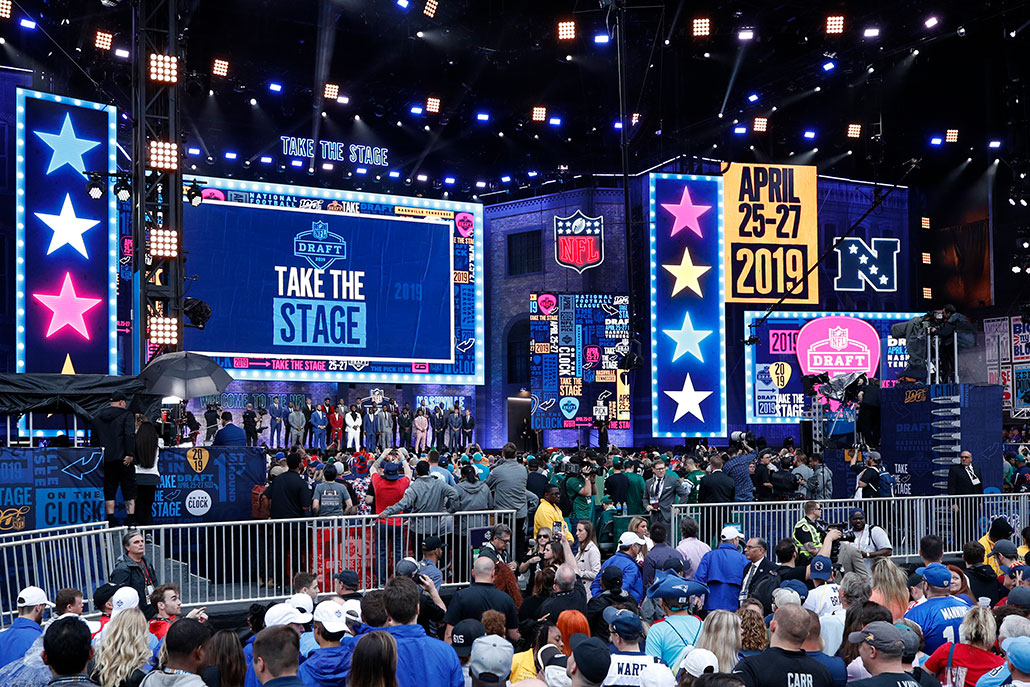 a photo of people at the NFL Draft in 2019