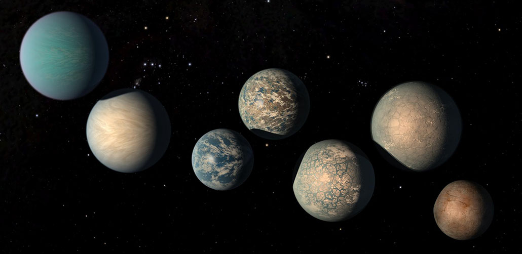 an illustration of the TRAPPIST exoplanets