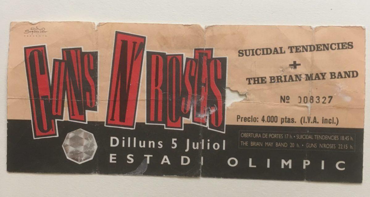 Tras los pasos de Axl: todos mis conciertos de Guns N' Roses