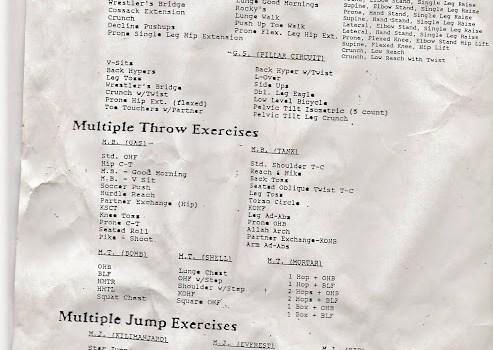 Dan Pfaff/ John Cook General Strength Exercises
