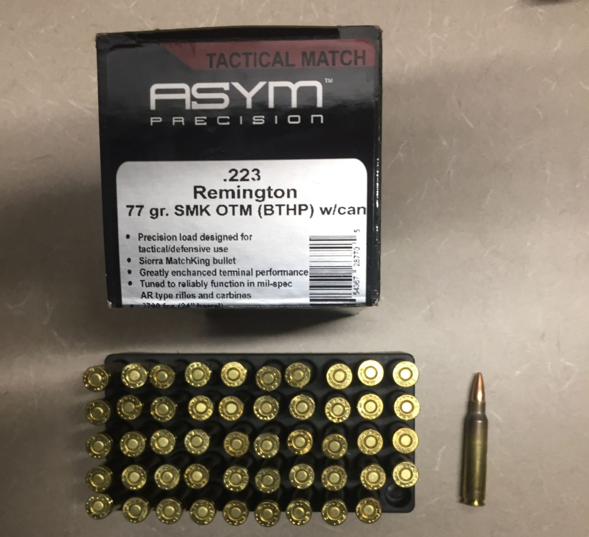 SLW Barrel Shootout – ASYM 77gr Ammo Performance