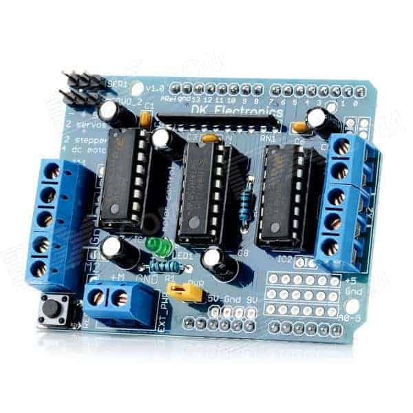 Testing arduino motor shield with servo motor do it for Motor driver for arduino