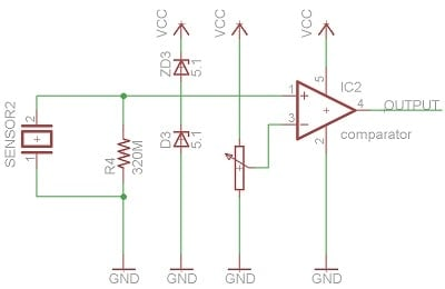 Using a piezo to wake 3 3V microcontroller when there's