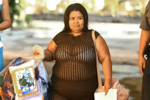 Maira Figueroaquitte la prison pour femmes de Ilopango à San Salvador, le 13 mars 2018 (AFP - MARVIN RECINOS)