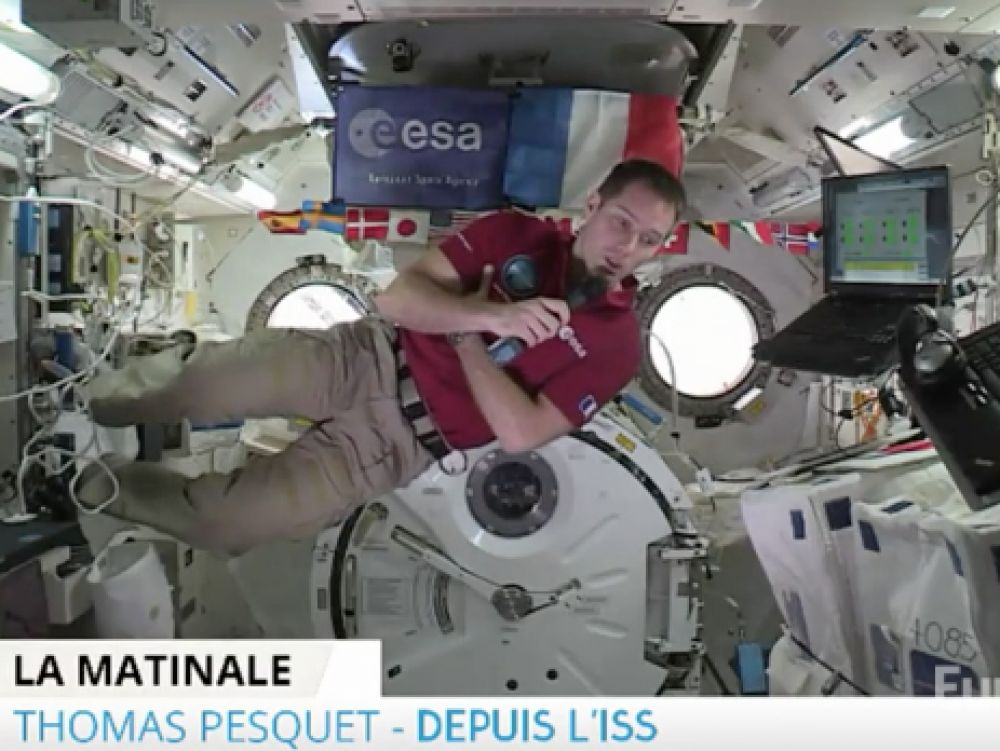 Thomas Pesquet en direct sur Europe 1 depuis l'ISS