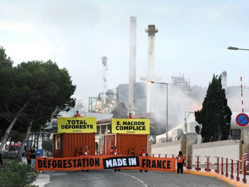 Des militants de Greenpeace