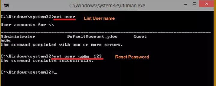 reset windows 10 forgotten password. sciencetreat.com