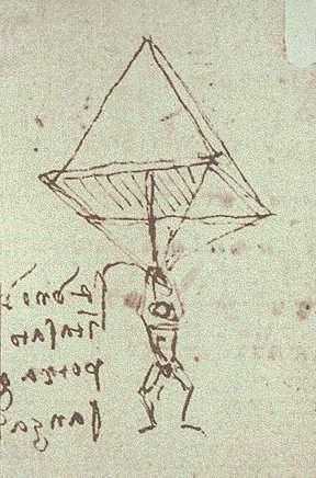 Schiţa paraşutei lui da Vinci