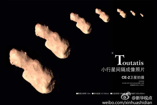 Chinese beelden van de asteroïde. Via: Planetary.org.