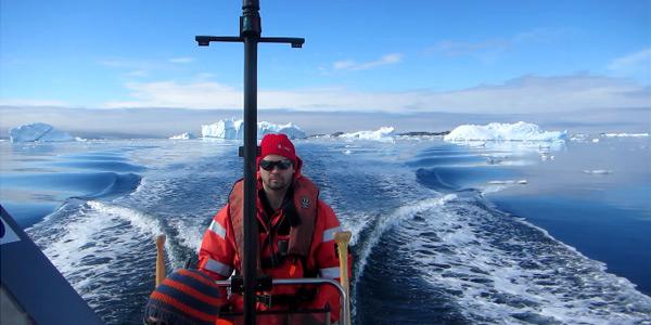 Aan het werk op Antarctica.