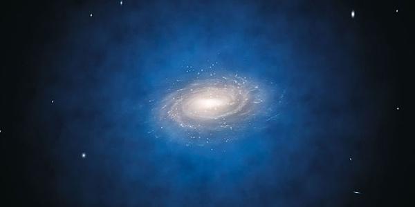 donkere materie rondom de Melkweg