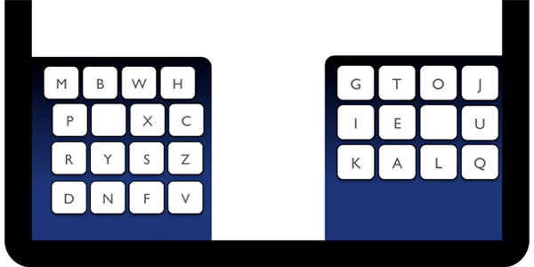 Het KALQ-toetsenbord. Afbeelding: Max Planck Institute for Informatics.
