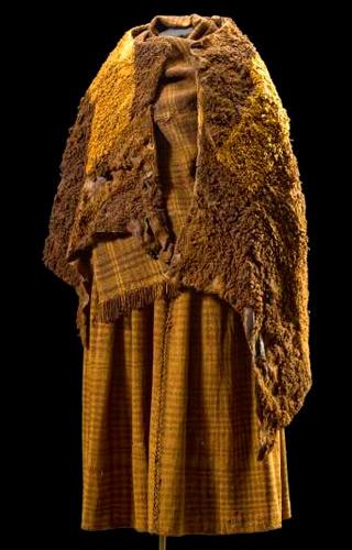 De kleding van de Vrouw van Huldremose. Foto: Natmus.dk.