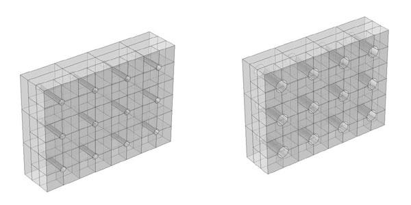 De geluidswerende ramen bestaan uit veel individuele blokken. Ieder blok heeft een luchtdoorlatend kanaal. De kanalen kunnen vergroot of verkleind worden om specifieke frequenties te blokkeren.