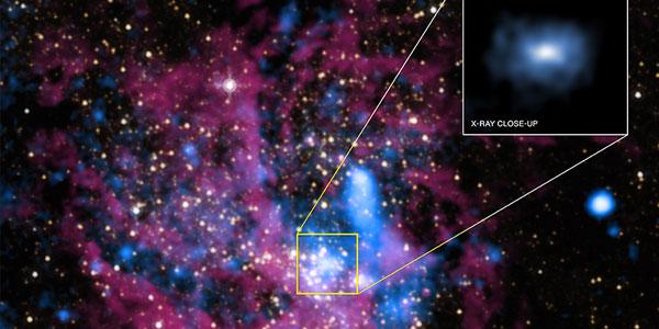 Het zwarte gat in het hart van onze Melkweg. Afbeelding: Röntgen: NASA / UMass / D.Wang et al., Infarood: NASA / STScI.