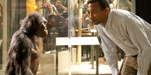 Lucy en curator dr. Yohannes Haile-Selassie. Afbeelding: © Cleveland Museum of Natural History.