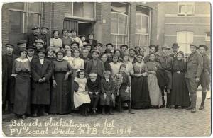 Belgische Vluchtelingen in Breda. Bron: Stadsarchief Breda.