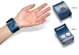 De armband meet of iemand stress ervaart.