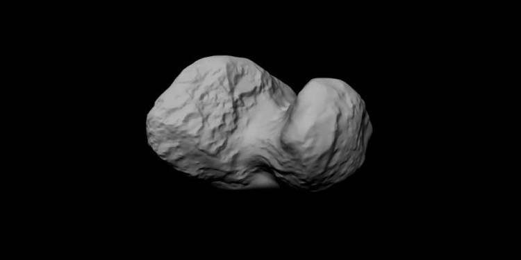 Het nieuwe model. Afbeelding: ESA / Rosetta / MPS for OSIRIS Team MPS / UPD / LAM / IAA / SSO / INTA / UPM / DASP / IDA.