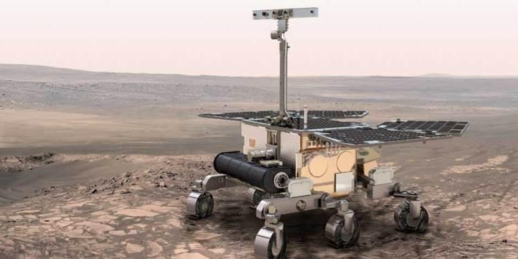 De ExoMars-rover is uitgerust met zes wielen en voorzien van zonnepanelen. De rover kan zich autonoom verplaatsen. Hij creëert daartoe op basis van foto's van zijn omgeving een digitale kaart en stippelt op die kaart een route uit. Met behulp van speciale camera's die hem helpen om botsingen te vermijden, kan hij zich vervolgens veilig bewegen en tot wel 100 meter per sol (een Martiaanse dag) afleggen. Afbeelding: ESA.
